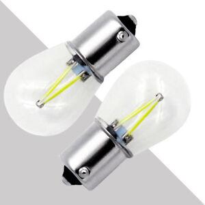 2x 1156 BA15S P21W COB White LED Turn Signal Reverse Light Lamp Bulbs DC 12V-24V