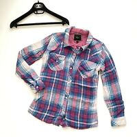 RAILS Plaid Shirt Pink White Blue Button Down Long Sleeve Size XS