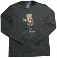 Ralph Lauren Limited Edition Men's SZ M Cocoa Polo Bear LS T-Shirt Gray NWT