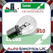 10x Lucas 382 12V 21W Bulb Stop Side Flasher Stop Tail Brake Car Fog Single Pin