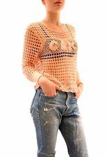 Wildfox Femme Wynona Gâteau Crochet Pull rouge à lèvres rose S RRP £ 120 BCF73