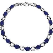 """14k white gold & sapphire bracelet 7"""""""