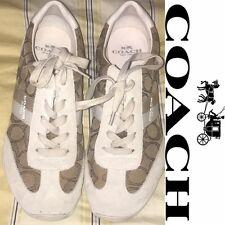 Coach Kelson Lace-Up Womens Fashion Sneakers Shoes Khaki - size 8