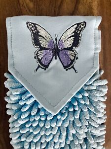 NORWEX Blue Limited Edition Butterfly CHENILLE HAND TOWEL  NEW!!