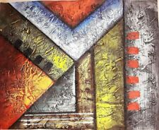 Hand-Painted Abstract Modern Art Oil Painting on Canvas