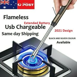 Plasma ARC Flameless USB Lighter BBQ Windproof Kitchen Candle Rechargeable 2021