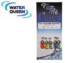 Kit cuillers truites multicouleur Water Queen par 5