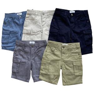 Boys Cargo Shorts Combat Adjustable Waist Age 3 - 10 Years GENEROUS FIT