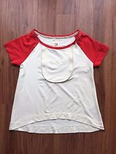 SCARLETT JOHANSSON HEARTS REEBOK COLLECTION WOMENS T-SHIRTS CREAM RED SIZE 10