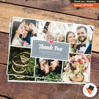 6 Photo picture WEDDING Thank You postcards Personalised Fast Post 50 100 200
