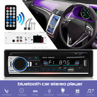 1 Din Car Stereo Audio Radio MP3 Player bluetooth FM/SD/TF USB AUX Head Unit US