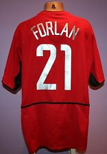 FORLAN # 21 MANCHESTER UNITED 2002/2004 HOME SHIRT NIKE VODAFONE SIZE XL