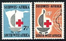 South West Africa 295-296, MNH. Intl. Red Cross, cent. Emblem, Map, Globe, 1963