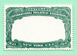 Missing Vignette Error 1947 Old US Stamp Perforated Mint No Gum