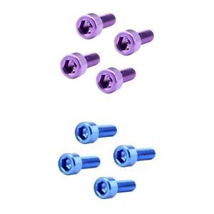 8Pcs Bike Bicycle Water Bottle Cage Bolts Holder Socket Screws Purple Blue