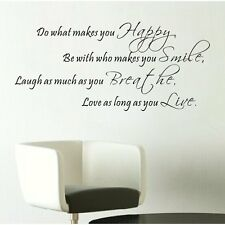 DO WHAT MAKES YOU HAPPY Home Wall Decal Vinyl Words Lettering Quote Inspiration