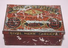 """ANTIQUE /VINTAGE -RIVAL HERB TABLETS """"A TRUE FAMILY MEDICINE""""   TIN/CAN-"""