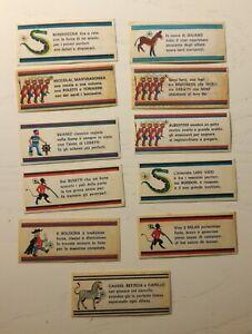 Calciatori Panini 1971/72 - 11 figurine nuove fuori raccolta solo slogan