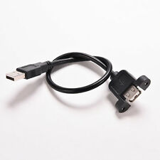 USB 2.0 Extension Molded Panel Mount Extention Port Cable Male to Female BestV#a
