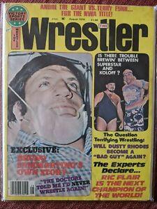 Wrestling Magazine The Wrestler August 1976 Bruno Ric Flair Andre the Giant