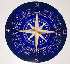 BLUE Rose Compass RV motorhome Wall Window Graphic Decal decals Mural Graphics