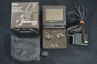 Nintendo Game Boy Advance SP Carbon Graphite Black AGS-001 Japan Cleaned Tested