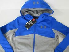 Boy's Youth Under Armour Storm Coldgear Loose Fit Full Zip Hoodie size YSM new