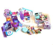 Gran Lote De Chicas Polly Pocket & Disney Princess Figuras de Juguete + Accesorios