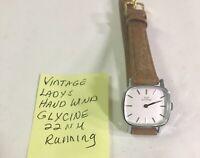 Vintage Ladys Hand Wind Glycine 22mm Running