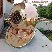 Antique US Navy Aluminum Full Size Diving Helmet Scuba Diver Mark V Replica 18''