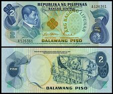 Philippines P-152 2 Piso Year ND Uncirculated Banknotes FREE SHIPPING