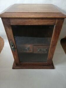 Vintage Oak Smokers Cabinet
