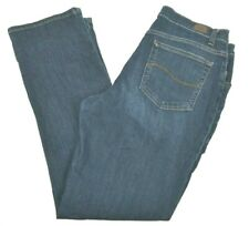 Lee Women's Relaxed Fit Straight Leg Blue Jeans, 14 M