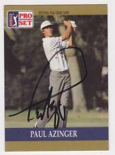 1990 PRO SET PAUL AZINGER SIGNED PGA TOUR CARD #21 AUTO AUTOGRAPH JSA