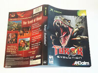 Xbox Turok Evolution replacement cover art insert only! original