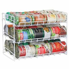 Can Rack Food Storage Cabinet Benchtop Caddy Holder Home Dispenser Metal Stand