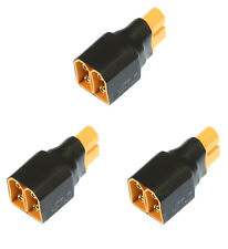 Apex RC Products No Wire XT60 Parallel Adapter Connector Plug - 3 Pack #1278