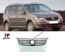 FOR VW TOURAN 2007 - 2010 FRONT BUMPER CENTER GRILLE WITH CHROME TRIM NO BADGE
