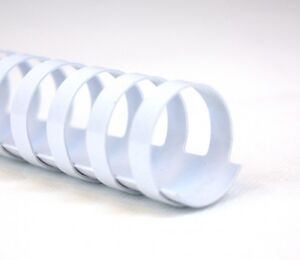 10 Plastikbinderücken 8 mm 21 Ringe weiß Binderücken weiss