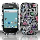 For Huawei Ascend Y H866C Crystal Diamond BLING Hard Case Cover Rainbow Leopard