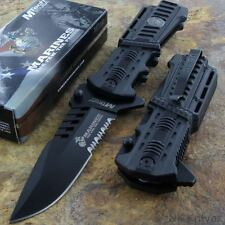 MTECH MARINES USMC Black Serrated Pocket Knife Rescue Tactical Glass Breaker NEW