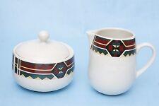 Tienshan Stoneware Creamer and Sugar Bowl Southwestern Design
