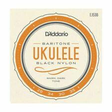 D'Addario Ukulele Strings Black Nylon EJ53B Uke Baritone