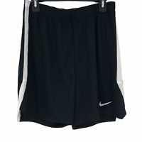 Nike Dri-Fit Mens size Large Black White Athletic Breathable Running Shorts NEW
