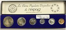 1967 Canada Centennial Complete Coin Set - Expo Caisse Populaire Desjardins Case
