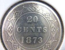1873 Newfoundland 20 Cents Silver Coin