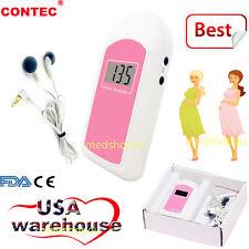 Pocket Prenatal Fetal Doppler, Baby Heart beat Monitor, LCD,Free GEL US seller