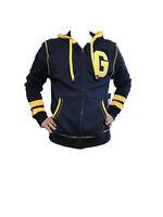 Generra Men'S Full Zip Hoodie Sweatshirt Heavy Cotton Deep Sea With G Logo 2XL