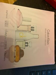 Calvin Klein Deluxe Travel Collection 5 Piece Miniature Set NEW in BOX *SEALED*