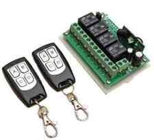 2 Emetteurs 1 Récepteur 12v 4 voies télécommande 433MHZ relais commutateur CL 09